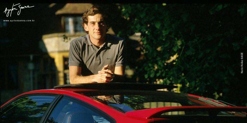 Ayrton Senna na Inglaterra em 1990