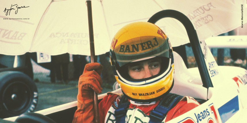 Ayrton Senna dentro do cockpit de seu F3 em 1983