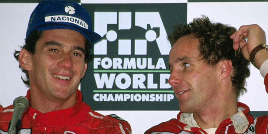 GERHARD BERGER (Amigo e Companheiro de equipe na McLaren)
