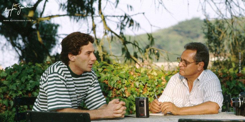 """LEMYR MARTINS (jornalista e autor do livro """"Uma estrela chamada Senna"""")"""