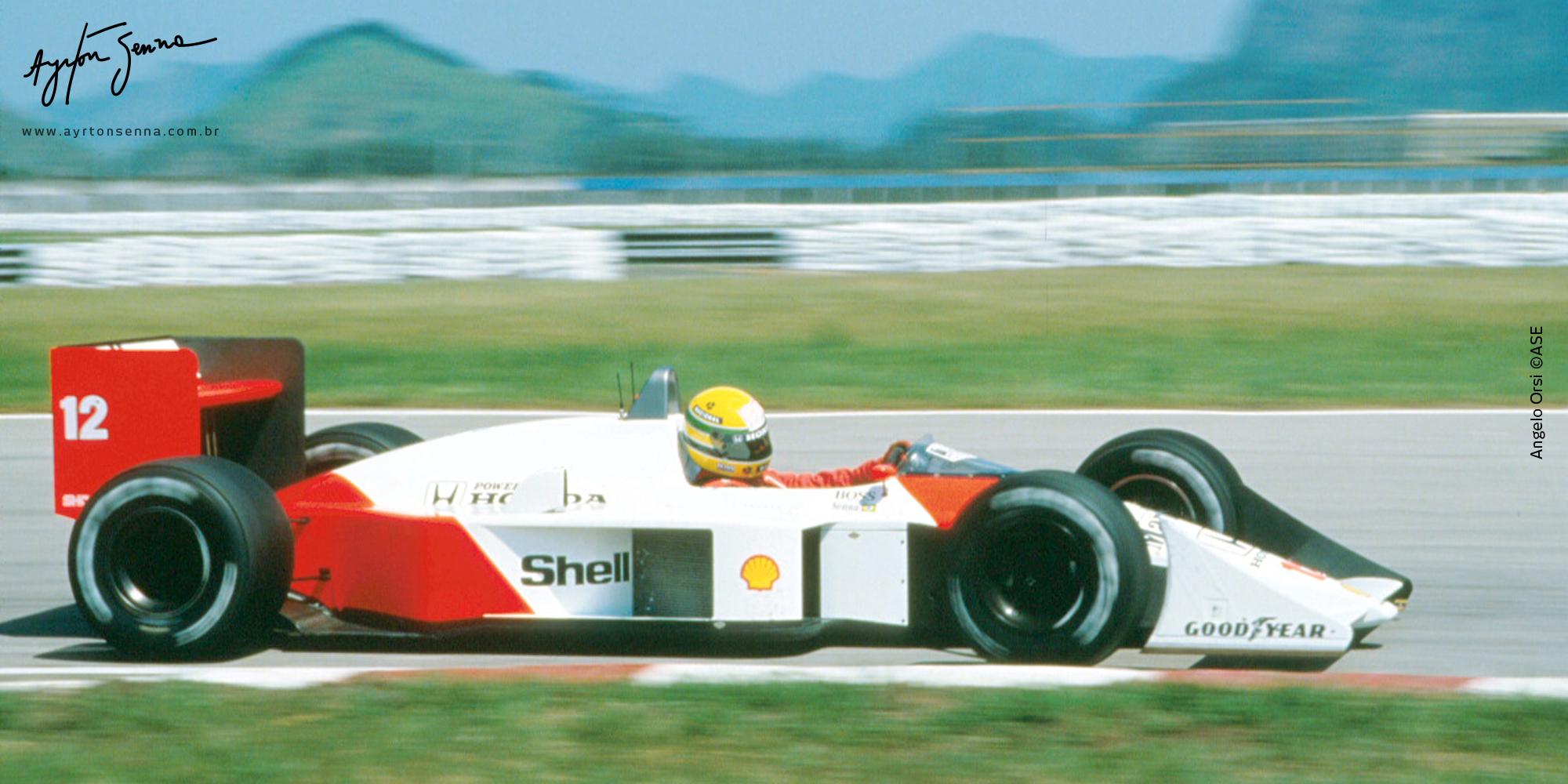 Brazilian Grand Prix 1988 The History Of Ayrton Senna